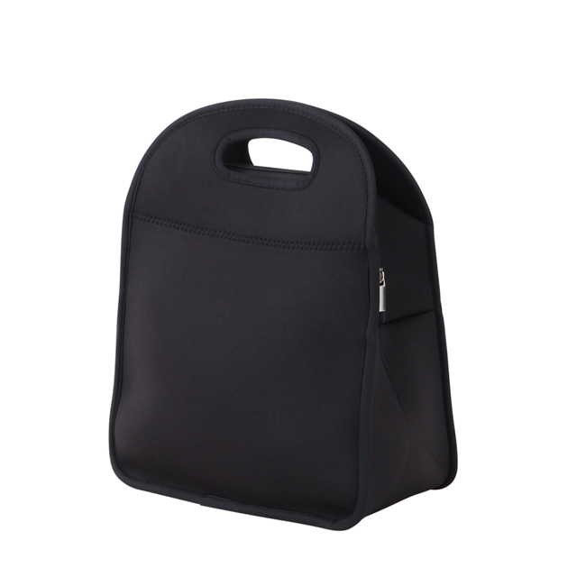 Lagute Neoprene Gourmet Lunch Snack Bag Warm Cool Food Storage Convenient Handy Tote Black(China (Mainland))