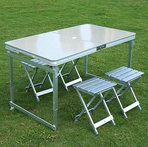 Buy Aluminum Outdoor Table Sets 1 Table 4 Chairs Folding Tab