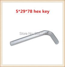 Níquel acero al carbono 5mm * 78 llave allen tornillo ( 100 unids/lote )