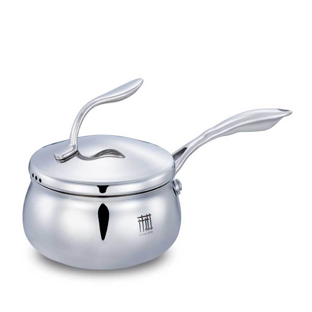Creative Top Grade Stainless Steel Stock Pots Mini Multicooker Restaurant Soup Pot Milk Pan Anti-Stick Cook Pans With Lid Handle(China (Mainland))