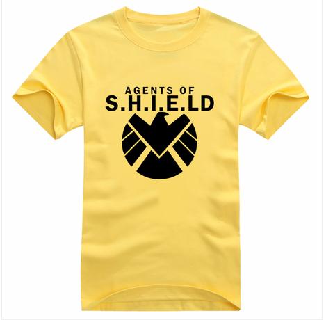 Marvel Agents of SHIELD T Shirt Avengers Thor Fashion Mens T shirt Hulk Tshirt Superhero Iron