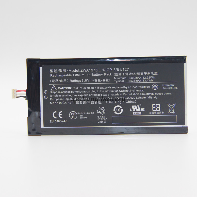 ZWA1975Q 3536mAh Replacement Battery For Acer Iconia Tab7 A1-713 Tablet Tab 7 A1 713 Bateria battery(China (Mainland))