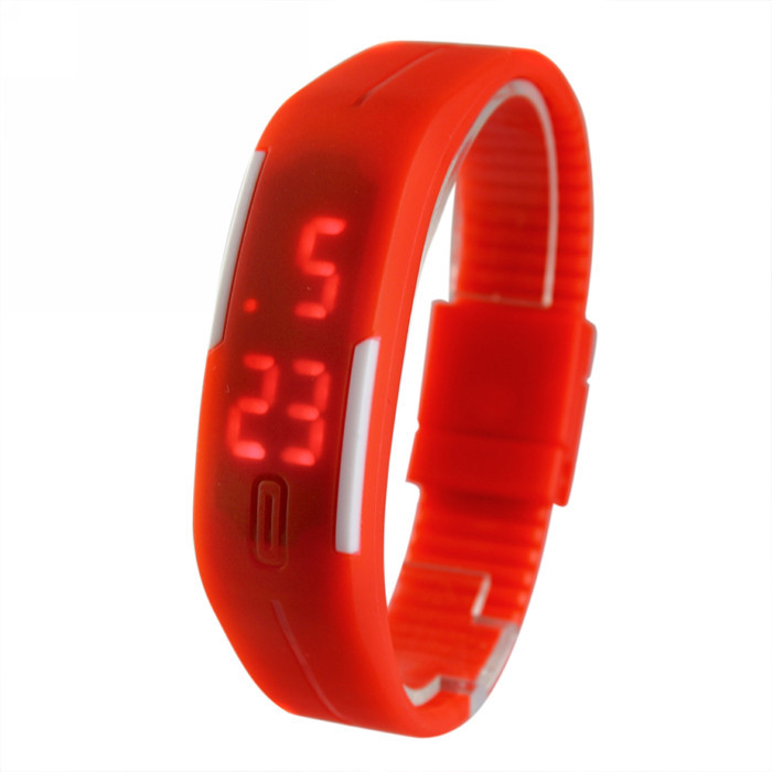 New Sports Bracelet LED Watch 2015 Sport Watch Fashion Digital Watch Date Time Men Wristwatch Waterproof Colorful Rubber Band