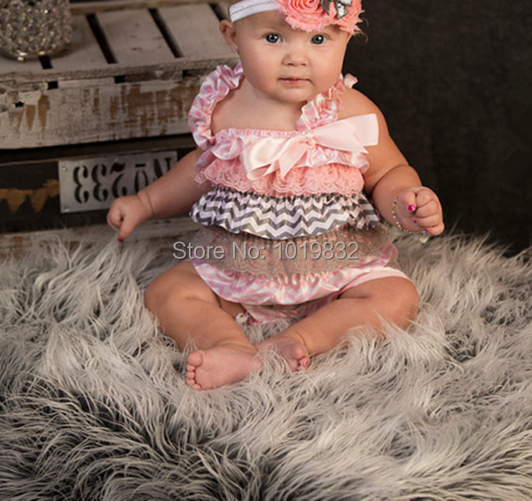 Newborn satin chevron romper toddler outfit infant jumpsuit baby girl