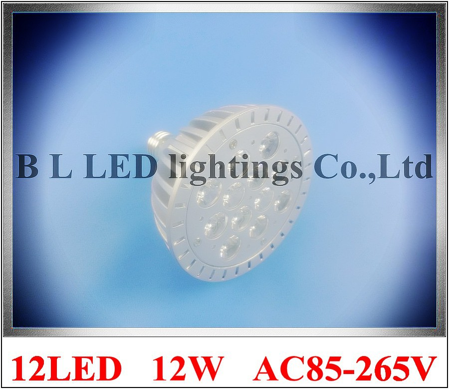 die casting aluminum LED spot light lamp spotlight bulb LED par light parlight E27 AC85-265V 12LED 12W 960lm free shipping(China (Mainland))