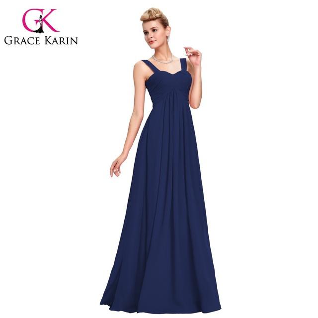 Новое поступление грейс карин элегантный длинное вечернее платье империи белый красный ...