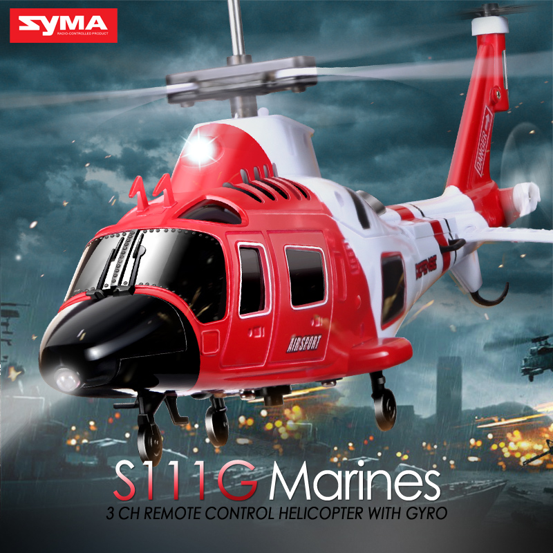 3.5 Channel Helicopter Syma S111g Remote Control 2.4G 4CH 6Axis Aircraf Aluminum Anti-Shock Remote 20M Control Distance RC Drone(China (Mainland))