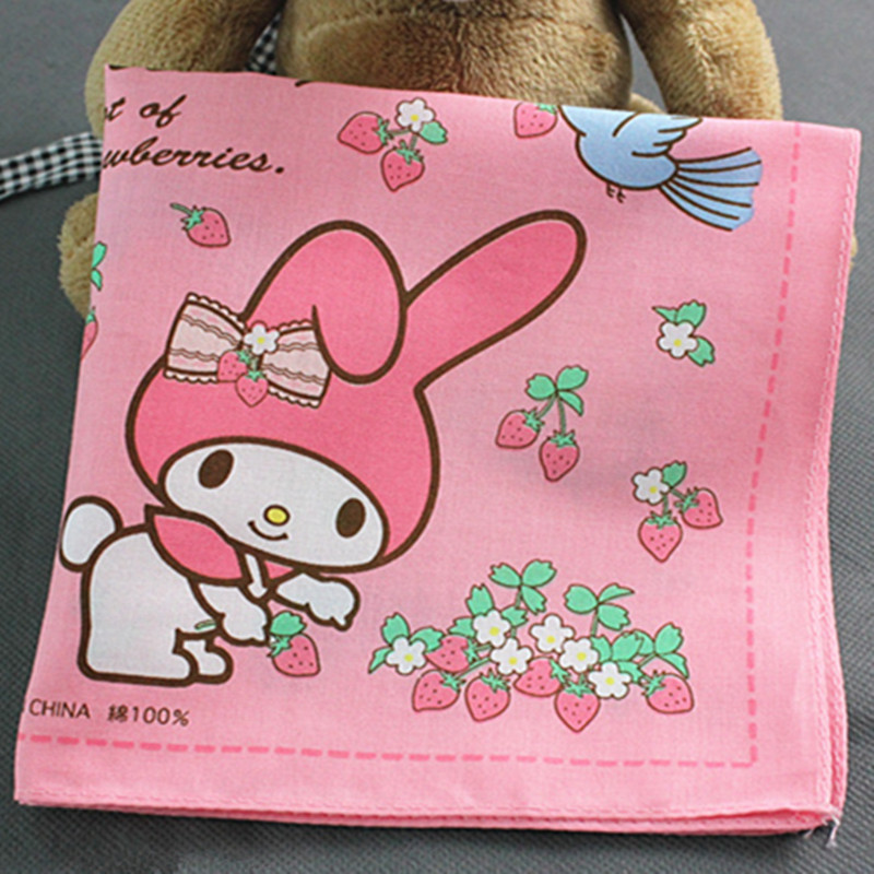 Children 100% Cotton Handkerchiefs Cartoon Pocket Squares Vintage Hankies For Kids 30*30cm Hankerchiefs 6pcs/pack(China (Mainland))