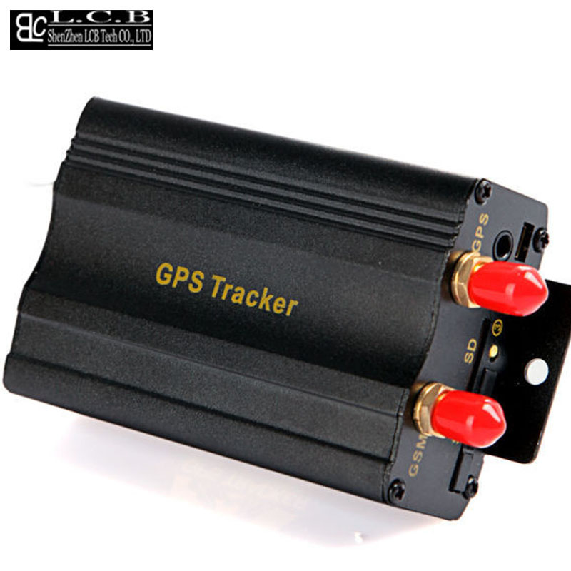 Power supply disconnection alarm Car gps vehicle tracking device TK103A RealTime SOS Alarm Tracker Device free shipping(China (Mainland))