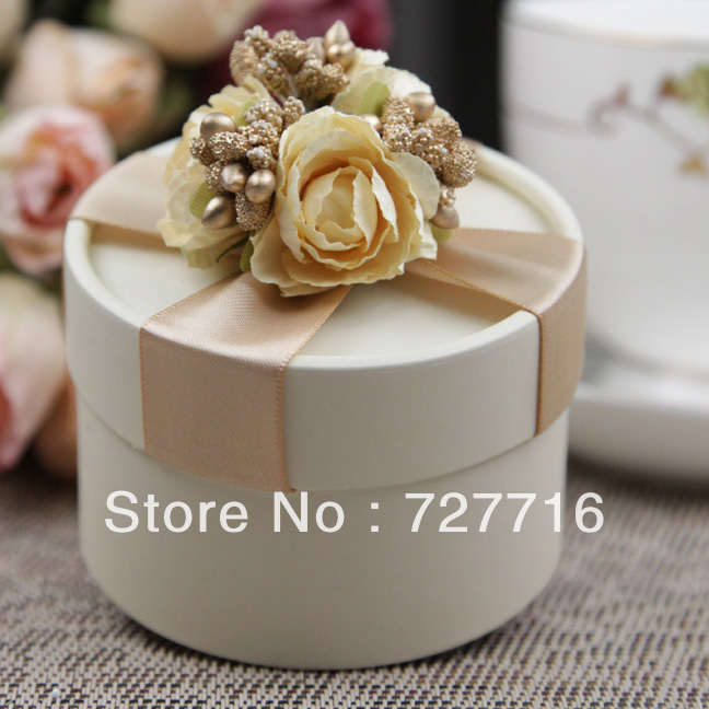 10PCS LOT PAPER Gift Box Champagne Wedding Favor Boxes Party Candy Box Free S