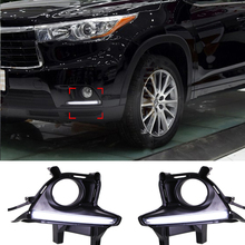 12V LED Guiding Daytime Running Light For Toyota Highlander Kluger 2014 2015 2016 DRL With Fog