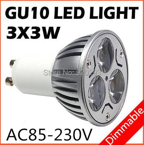 1PCS High power CREE GU10 E27 E14 MR16 B22 9W 12w 15w Dimmable Light lamp Bulb LED Downlight Led Bulb Free shipping(China (Mainland))