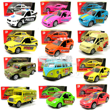 FREE SHIPPING Boxed 4 your good friend mini bus school bus sports car 4wd alloy WARRIOR open the door car model toy