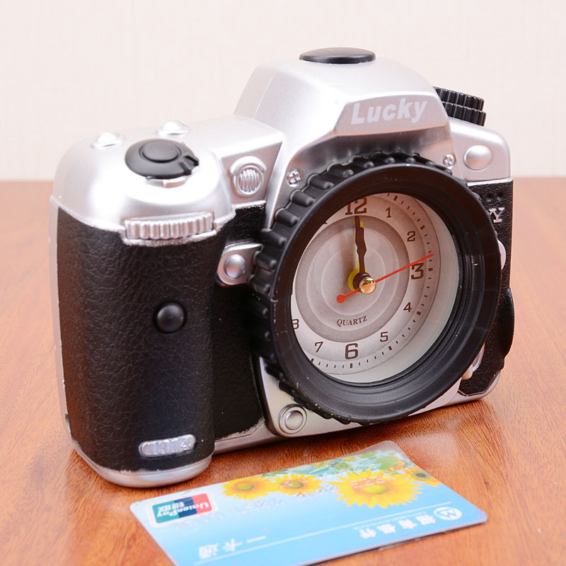 2014 fashion one piece personality fashion camera alarm clock for collection(China (Mainland))