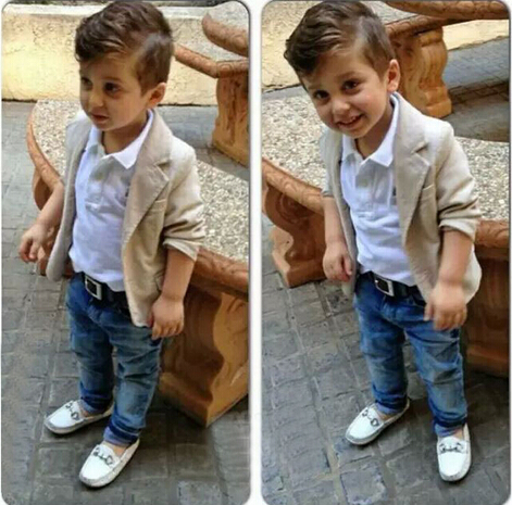 3PCS/0-6Years/Spring Autumn Gentleman Suit Shirt+Jackets+Jeans Baby Boys Clothes For Kids Designer Childrens Clothing Set(China (Mainland))