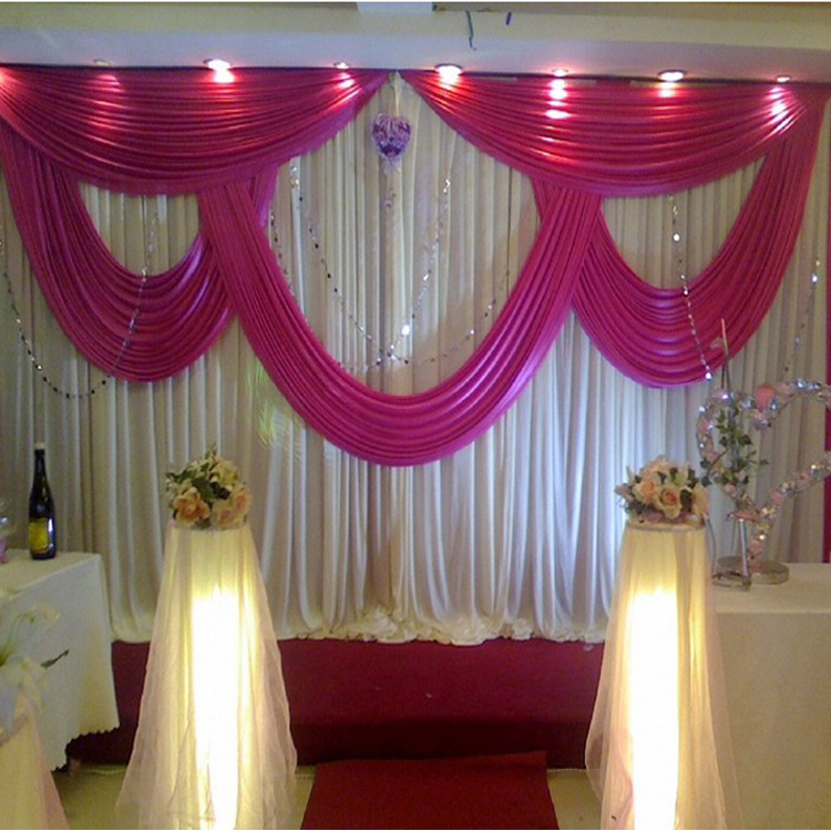 Aliexpress Buy 2015 New Arrival Deal Sales White And Red Wedding Backdrop Drape Decoration