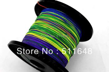Free Shipping 500M/PCS Multicolor PE Braid Fishing Lines 8 10 15 20 25 30LB