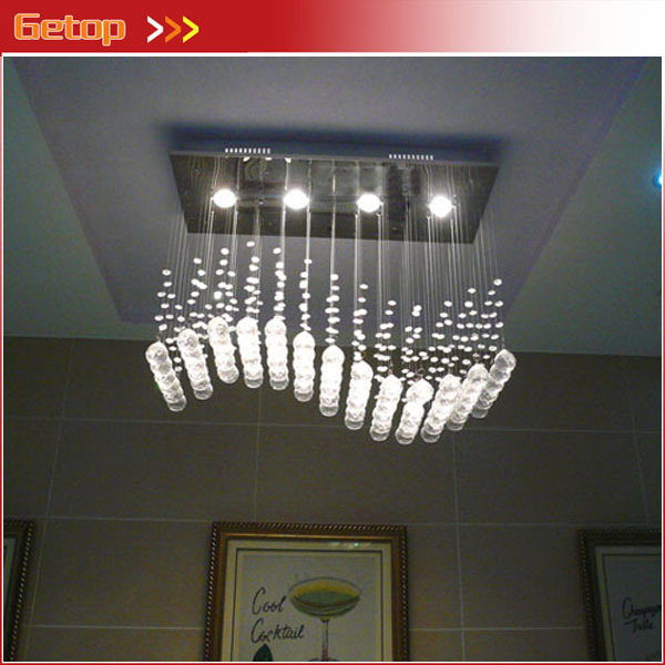 Best Price Wave shaped K9 Crystal Chandeliers LED Hanging ...