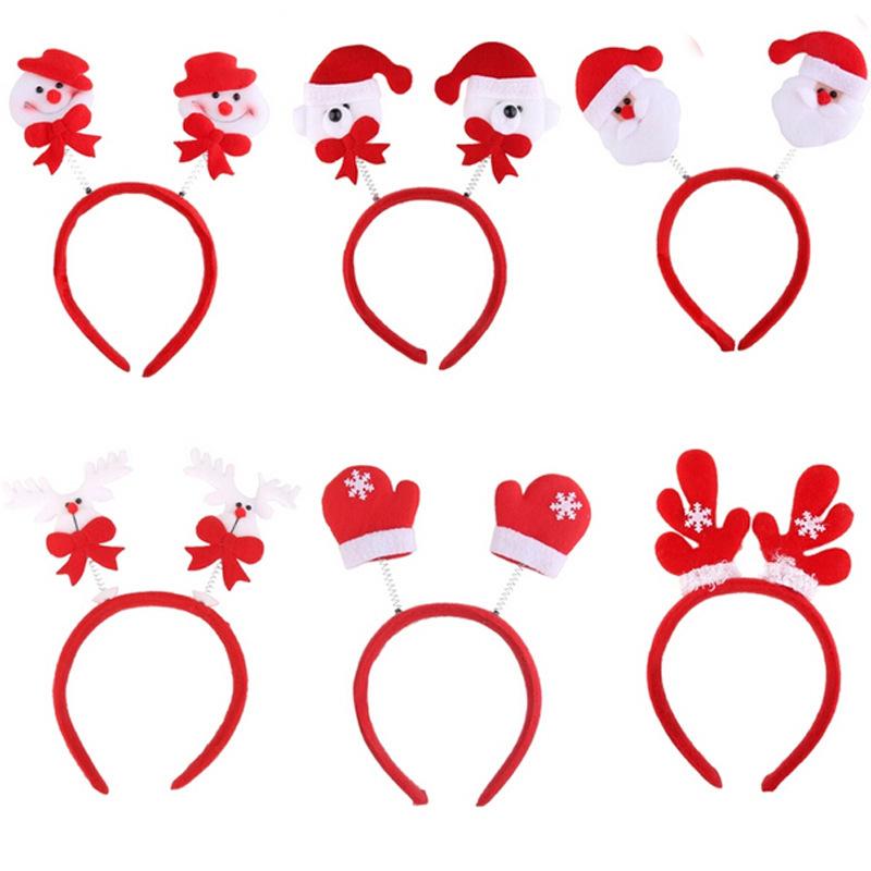 nios accesorios para el cabello cintas para el pelo de navidad elk astas diadema de dibujos animados del mueco de nieve de san