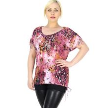 BFDADI 2016 Женщин Футболка Мода Горячие Bronzing Печати Случайные Футболки рубашка Летом Стиль Party Club Женщины Топы Рубашка Большого размера 9835(China (Mainland))