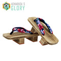 2016 Summer men women Sandals Japanese Geta Clogs Flip Flops classial Wooden Slippers anime Cosplay costume MGT-434
