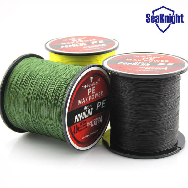 TriPoseidon Brand 300M 330Yards Multifilament PE Braided Fishing Line 4 stands 8LB 10LB 20LB 30LB 40LB 60LB new 2015(China (Mainland))