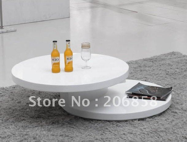 Round coffee table or tea table with paint home furniture