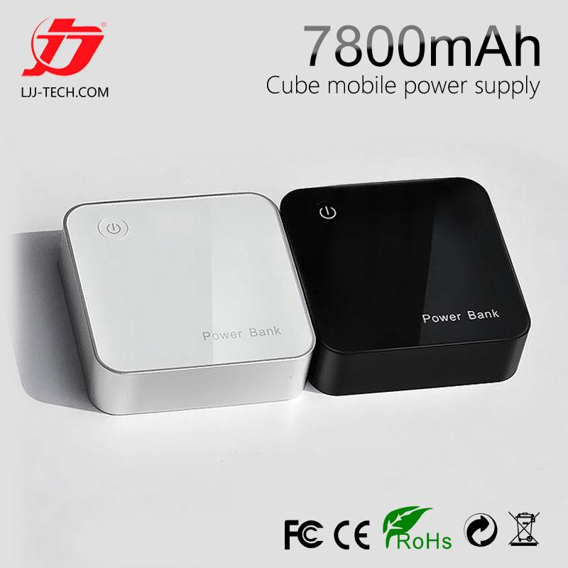 LJJ 18650 Power bank 100% really 7800mAh Aluminum body Portable general External Battery Pack for samsung iPhone nokia Xiaomi(China (Mainland))