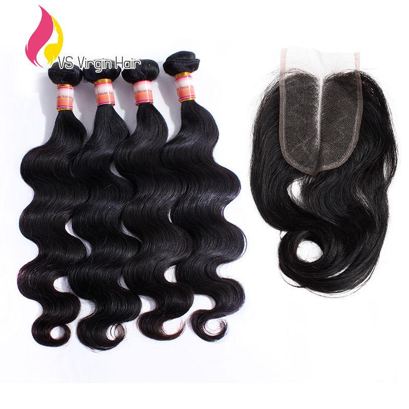 peruvian virgin hair body wave with closure