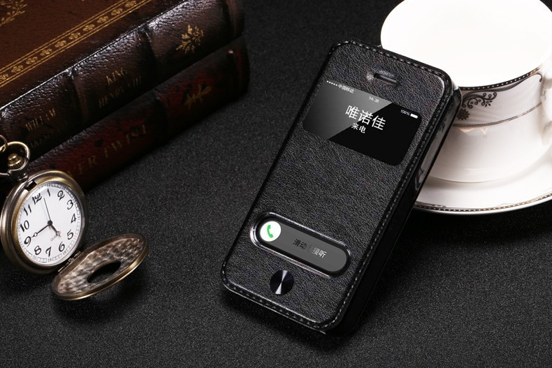 2016 New Style For iPhone 5G Vintage PU Leather Case for iPhone5 5S SE 5C Phone Bag Flip Cover With Stand View Window Capa