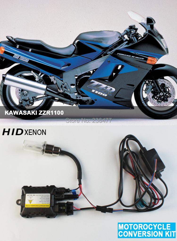 Set motorcycle moto hid xenon kit lights Headlight headlamp lamp for KAWASAKI ZZR1100 3000K 4300K 6000K 8000K 10000K(China (Mainland))