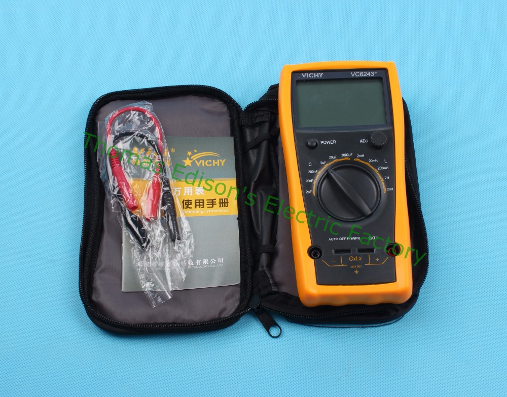VC6243 high-precision digital inductance capacitance meter 0-1000uf  free shipping