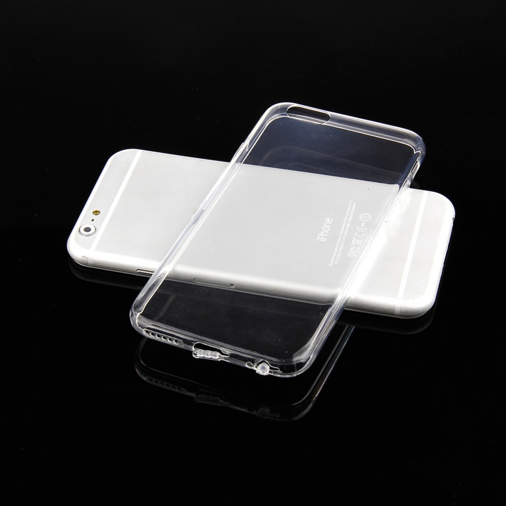 Super Flexible Clear TPU Case For Iphone Slim Crystal Back Protect Skin Rubber Phone Cover Fundas Silicone Gel Case(China (Mainland))