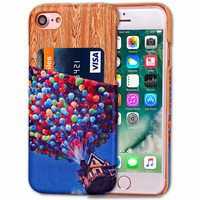 10pcs 7Plus Hybrid Card Slot Back Cover Bag For iPhone 7 7 Plus PU Leather Case For iPhone 7 4.7 Fundas Phone Cases Accessories
