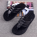 Heavy bottomed leather sandals trend men s leather braided rope Korean version of the British men