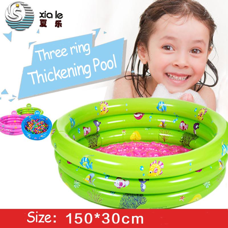 150 x 30cm Inflatable Round pool Baby swimming piscina Folding baby bath tub inflatable Swimming pool Babies Paddling Pool(China (Mainland))