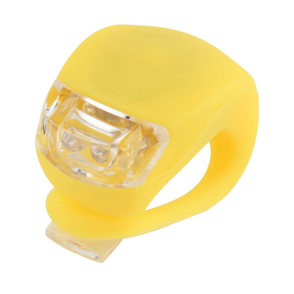 1pc Silicone Bike Bicycle Cycling Head Front Rear Wheel LED Flash Light Lamp(China (Mainland))