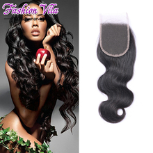 7A Cheap Peruvian Lace Closure Bleached Knots Virgin Hair Peruvian Body Wave Closure, Human Hair Closures, Lace Front Closure