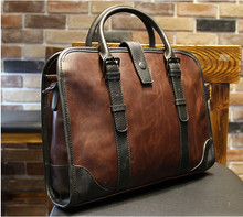 Genuine leather bag Men briefcase, leisure handbag, men shoulder bag, handbag business work, new fashion briefcase(China (Mainland))