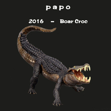 2016 Papo New Boar Croc The Most Classic Ancient Creatures Crocodile Simulation Animal Toy Collection White Decoration(China (Mainland))