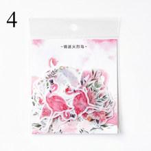 40 шт./пакет мультфильм Животные Sticekrs Единорог Фламинго декоративные бумажные наклейки для Diy dirray Alumb Скрапбукинг школьные принадлежности(China)