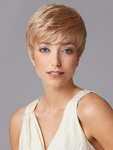 2015 Perfect Pixie cut Synthetic wigs Short Straight layered Blonde hair wig Bangs women - Young and beautiful store