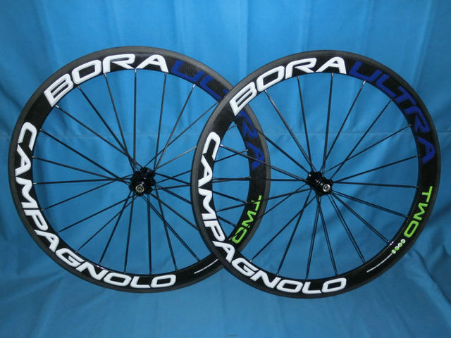 CAMPAGNOLO BORA TWO 50mm carbon clincher road wheelset &carbon wheelset+novatec hub+spokes+skewer & 3k glossy/matte fininshing