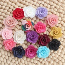DIY 2.5Cm small size Particles pearl mini stud earrings stereo rose flower diy garment accessories 60ps/lot(China (Mainland))