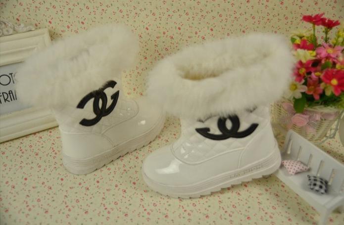 зимой Тодл девочек cc канал обувь долго снега сапоги с мехом принцесса кожа водонепроницаемые ботинки tx1004