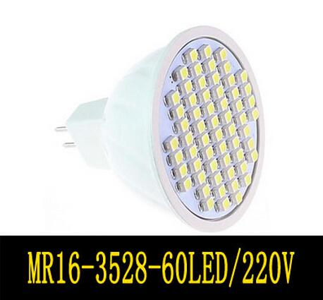 Spot light led lamp 220V MR16 60leds SMD 3528 warm White Cool white Lamp ZM00385 - Hua Shang Tripod CO., LTD store