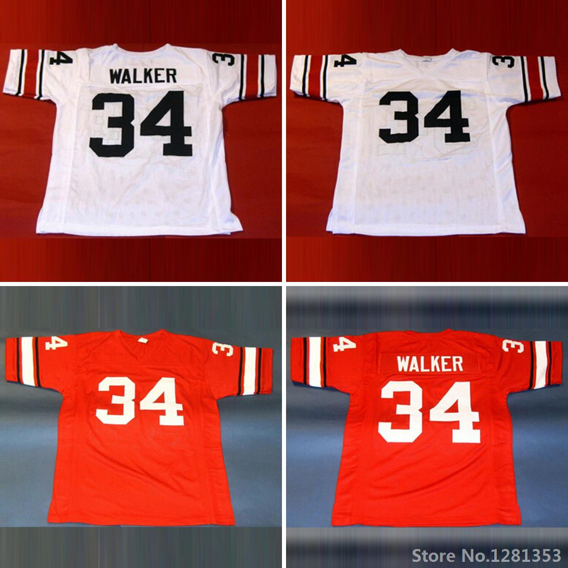 Georgia Bulldogs 34 Herschel Walker Jersey,Embroidery Stitched,BEST Herschel Walker College Football Jerseys,Red White,XXS-6XL(China (Mainland))