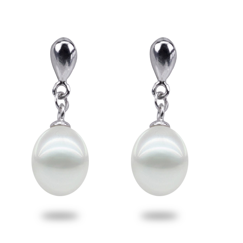 100% cultured freshwater pearl earring real natural 925 sterling silver earring natural genuine pearl earring for woman(China (Mainland))