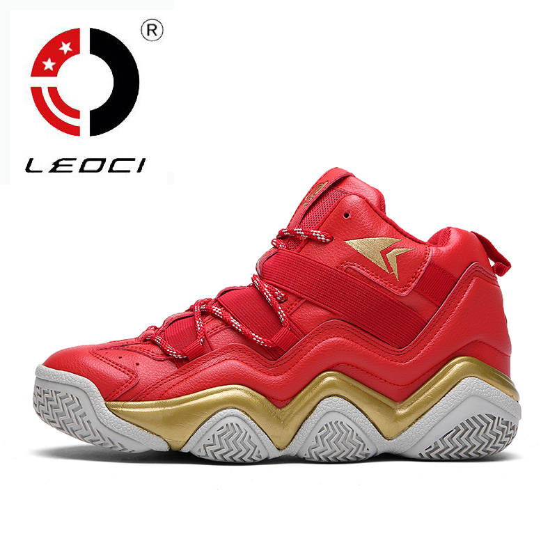 LEOCI 2016 New Professional Basketball Shoes Men High Top Sport Shoes Basketball Trainer Shoes Antislip Athletic Sneakers(China (Mainland))
