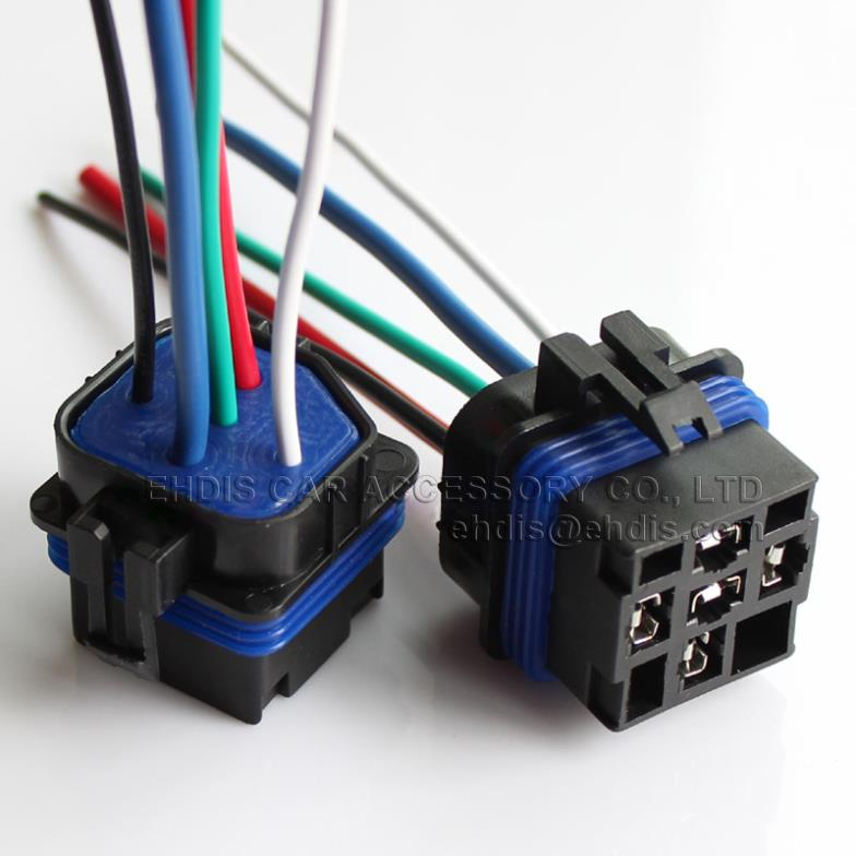 Waterproof Car automotive relay socket / rely mount could use together with Large hood relay with cables length 12CM CR4013(China (Mainland))